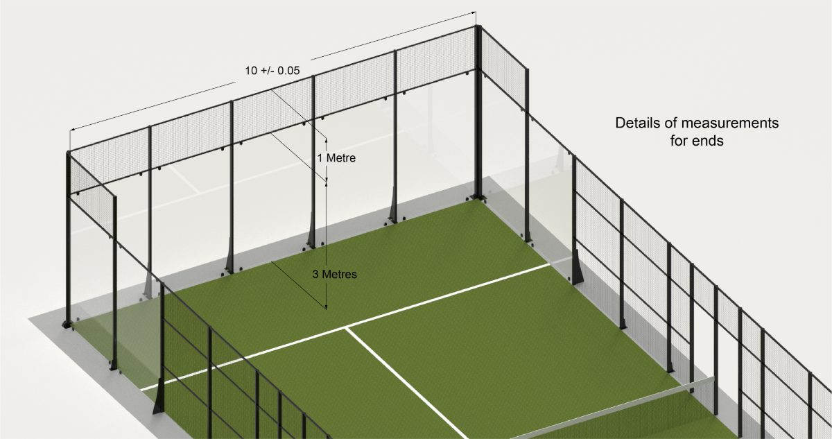 Padel Court Ends and Sides