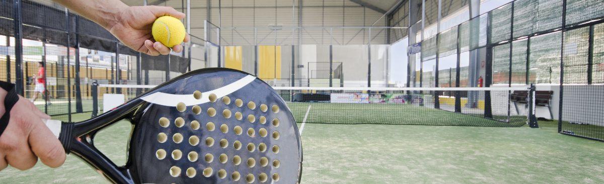 Player Serving in Padel Tennis