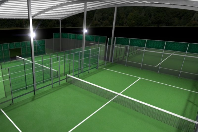 Double Padel Court Cover