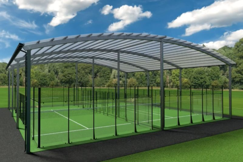 Curved Roof Padel Court Cover